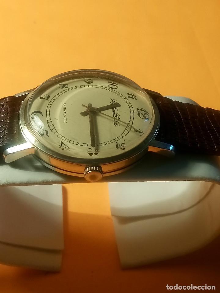 Relojes de pulsera: MORTIMA WATCH. MANUAL - FUNCIONANDO. 33.7 S/C. REVISADO. DESCRIPCION Y FOTOS. - Foto 3 - 132274346