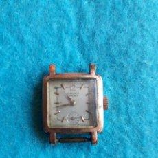 Relojes de pulsera: RELOJ MARCA CAUNY. CLÁSICO DE DAMA. CHAPADO EN ORO 20 MICRAS.. Lote 132279078