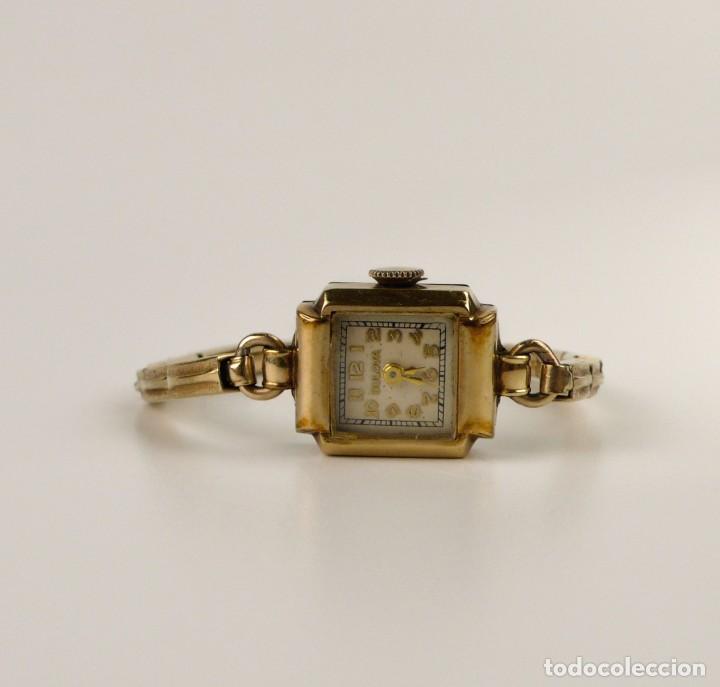 Relojes de pulsera: Bulova,Estados Unidos- Reloj para mujer. plaqué de oro 1/20 10k -Art decó años 30 - Foto 2 - 132462758