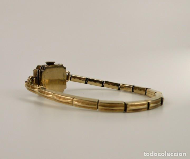 Relojes de pulsera: Bulova,Estados Unidos- Reloj para mujer. plaqué de oro 1/20 10k -Art decó años 30 - Foto 4 - 132462758
