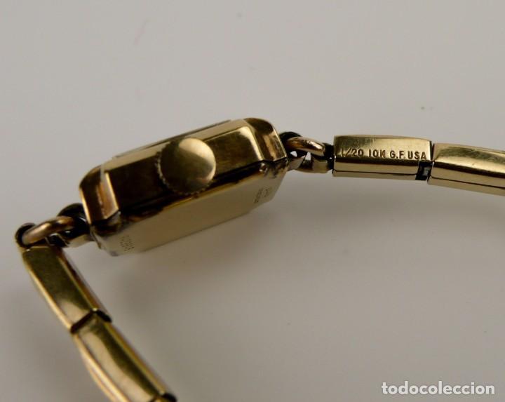 Relojes de pulsera: Bulova,Estados Unidos- Reloj para mujer. plaqué de oro 1/20 10k -Art decó años 30 - Foto 5 - 132462758
