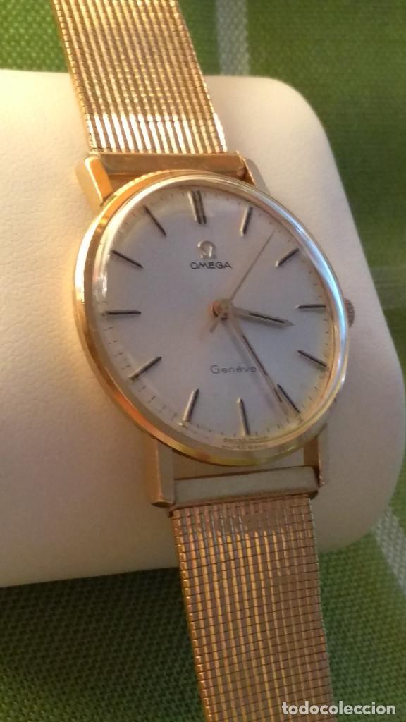Relojes de pulsera: OMEGA DE ORO. 18 KL. 0.750 MLM.(( PERFECTO )) CALIB 601 - 1.967. REVISADO Y FUNCIONANDO. DESCRIPCION - Foto 10 - 182941420