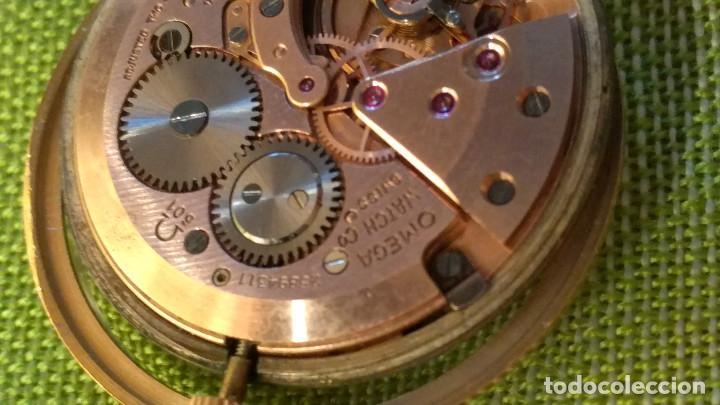 Relojes de pulsera: OMEGA DE ORO. 18 KL. 0.750 MLM.(( PERFECTO )) CALIB 601 - 1.967. REVISADO Y FUNCIONANDO. DESCRIPCION - Foto 17 - 182941420