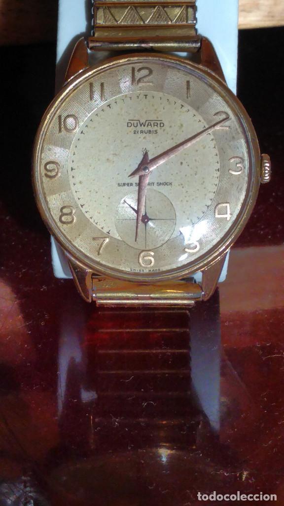 Relojes de pulsera: DUWARD - MANUAL. AÑOS 50. FUNCIONANDO BIEN. 37.5 S/C. 21 R. P.ORO 10 M. DESCRIP. Y FOTOS. - Foto 3 - 132622398