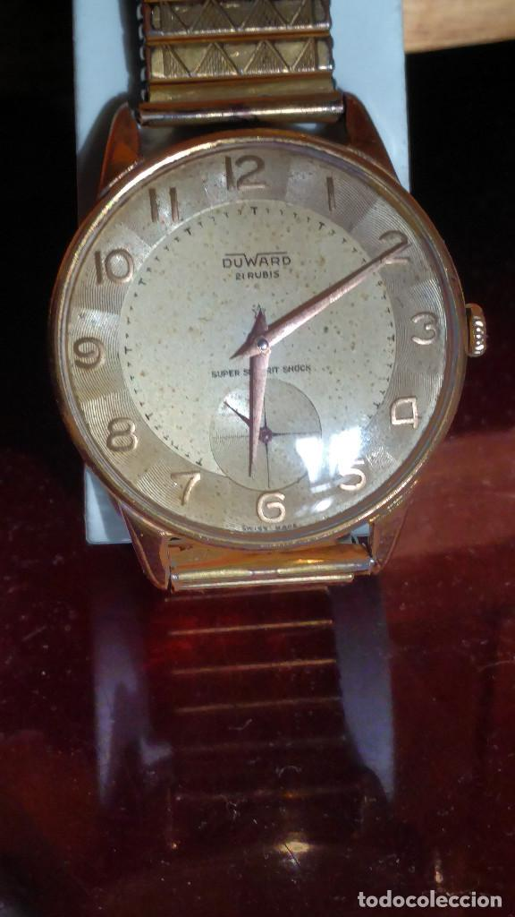 Relojes de pulsera: DUWARD - MANUAL. AÑOS 50. FUNCIONANDO BIEN. 37.5 S/C. 21 R. P.ORO 10 M. DESCRIP. Y FOTOS. - Foto 4 - 132622398