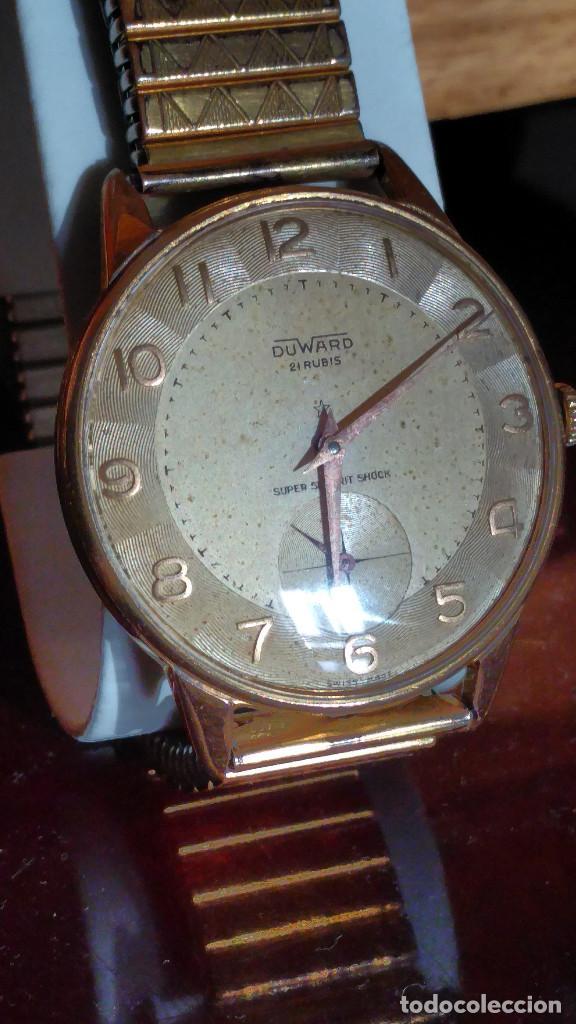 Relojes de pulsera: DUWARD - MANUAL. AÑOS 50. FUNCIONANDO BIEN. 37.5 S/C. 21 R. P.ORO 10 M. DESCRIP. Y FOTOS. - Foto 5 - 132622398