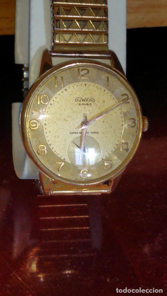 Relojes de pulsera: DUWARD - MANUAL. AÑOS 50. FUNCIONANDO BIEN. 37.5 S/C. 21 R. P.ORO 10 M. DESCRIP. Y FOTOS. - Foto 2 - 132622398