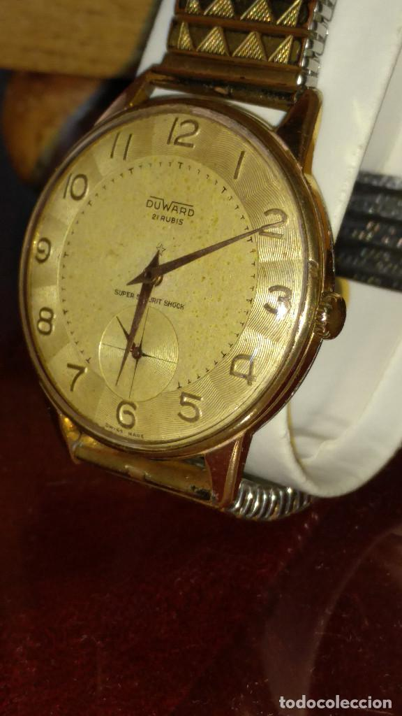 Relojes de pulsera: DUWARD - MANUAL. AÑOS 50. FUNCIONANDO BIEN. 37.5 S/C. 21 R. P.ORO 10 M. DESCRIP. Y FOTOS. - Foto 6 - 132622398
