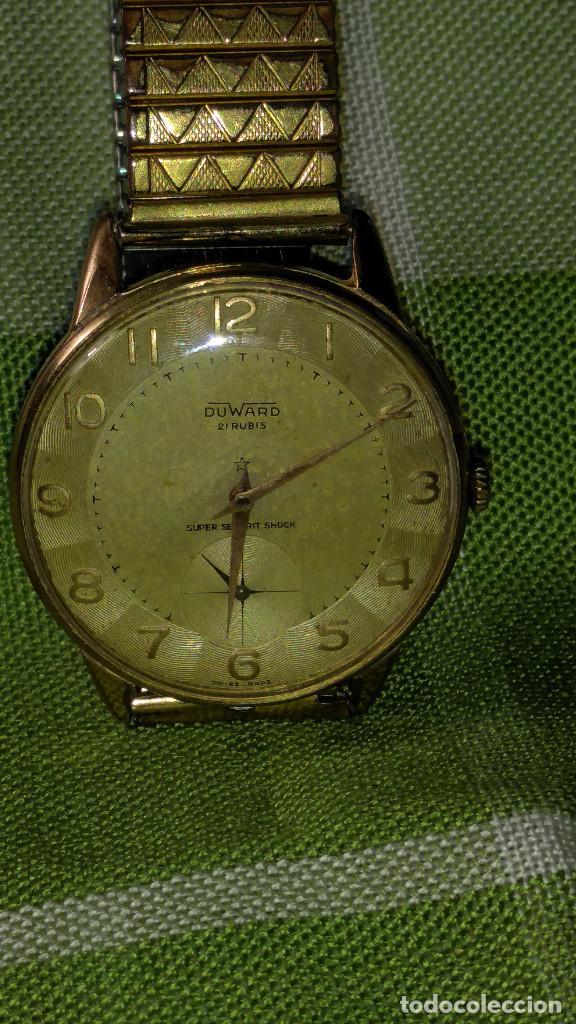 Relojes de pulsera: DUWARD - MANUAL. AÑOS 50. FUNCIONANDO BIEN. 37.5 S/C. 21 R. P.ORO 10 M. DESCRIP. Y FOTOS. - Foto 12 - 132622398