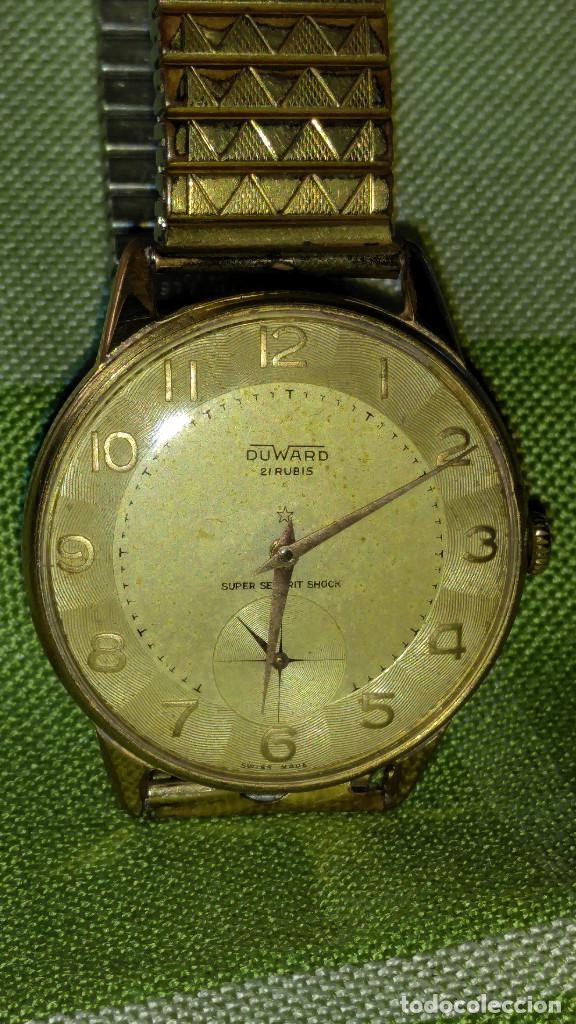 Relojes de pulsera: DUWARD - MANUAL. AÑOS 50. FUNCIONANDO BIEN. 37.5 S/C. 21 R. P.ORO 10 M. DESCRIP. Y FOTOS. - Foto 13 - 132622398