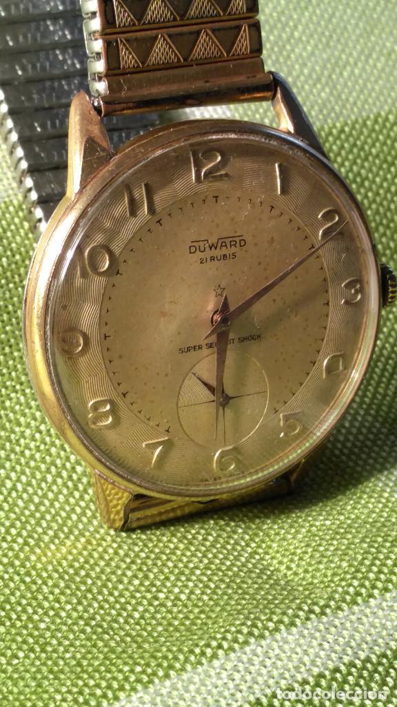 Relojes de pulsera: DUWARD - MANUAL. AÑOS 50. FUNCIONANDO BIEN. 37.5 S/C. 21 R. P.ORO 10 M. DESCRIP. Y FOTOS. - Foto 14 - 132622398