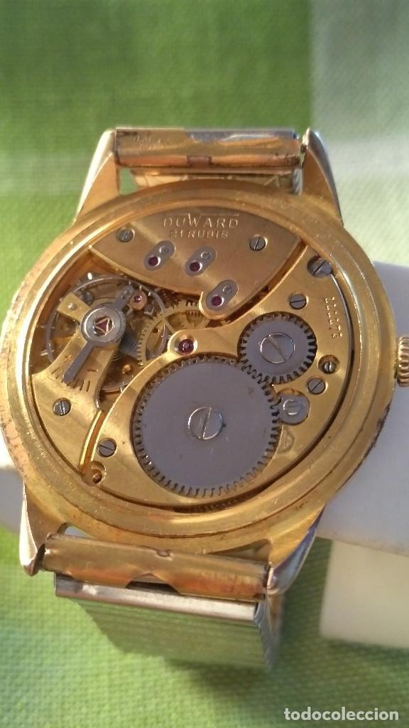 Relojes de pulsera: DUWARD - MANUAL. AÑOS 50. FUNCIONANDO BIEN. 37.5 S/C. 21 R. P.ORO 10 M. DESCRIP. Y FOTOS. - Foto 19 - 132622398
