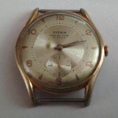 Relojes de pulsera: RELOJ DE PULSERA, TITAN MOD DE LUXE, 17 RUBIS, FUNCIONANDO SIN TESTAR, SIN PULSERA. Lote 133017582