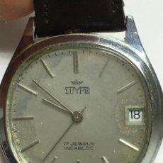 Relojes de pulsera: RELOJ LUYPE CARGA MANUAL CAJA DE ACERO Y CORREA DE PIEL MAQUINARIA SWISS MADE. Lote 133198346