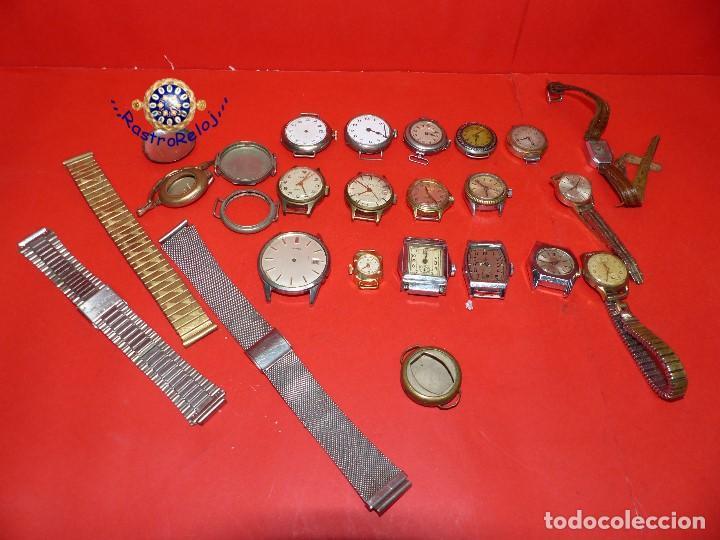 ,,,LOTE DE RELOJES DE PULSERA,,,CUERDA MANUAL,,,VER DESCRIPCION Y FOTOGRAFIAS,,, (Relojes - Pulsera Carga Manual)