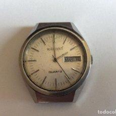 Relojes de pulsera: RELOJ DE PULSERA RADIANT QUARTZ CON FECHA DIAM. 36 MM. Lote 133254598
