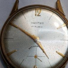 Relojes de pulsera: RELOJ ANTIGUO DE CUERDA*INCITUS* 17 RUBIS CHAPADO EN ORO FUNCIONANDO. Lote 78677442