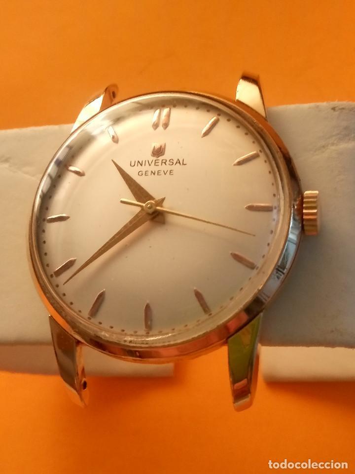 Relojes de pulsera: UNIVERSAL GENEVE - 1.942/49 - (((P.ORO - 30 MICRONES))) CALI. 262 - 34.50 S/C. AUTENTICO. MANUAL. FO - Foto 3 - 133534222