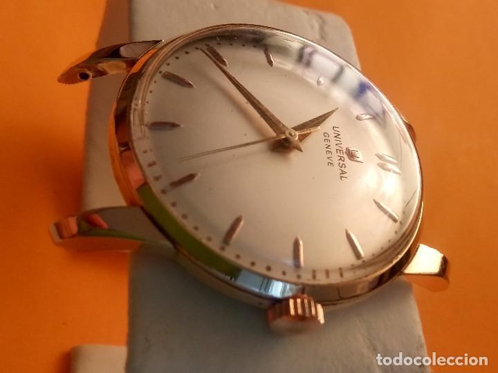 Relojes de pulsera: UNIVERSAL GENEVE - 1.942/49 - (((P.ORO - 30 MICRONES))) CALI. 262 - 34.50 S/C. AUTENTICO. MANUAL. FO - Foto 4 - 133534222