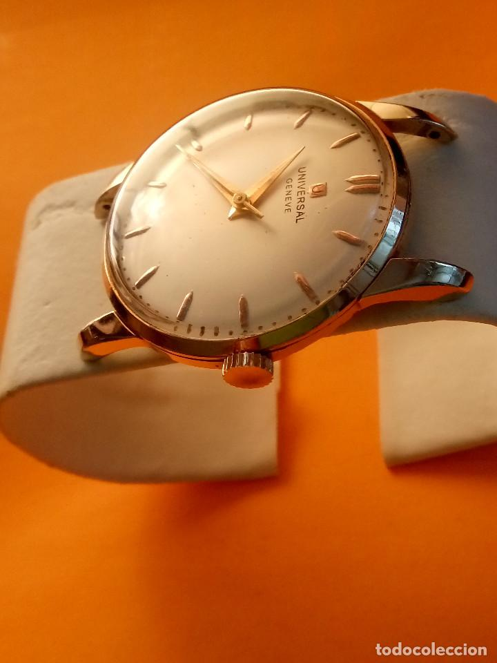 Relojes de pulsera: UNIVERSAL GENEVE - 1.942/49 - (((P.ORO - 30 MICRONES))) CALI. 262 - 34.50 S/C. AUTENTICO. MANUAL. FO - Foto 5 - 133534222