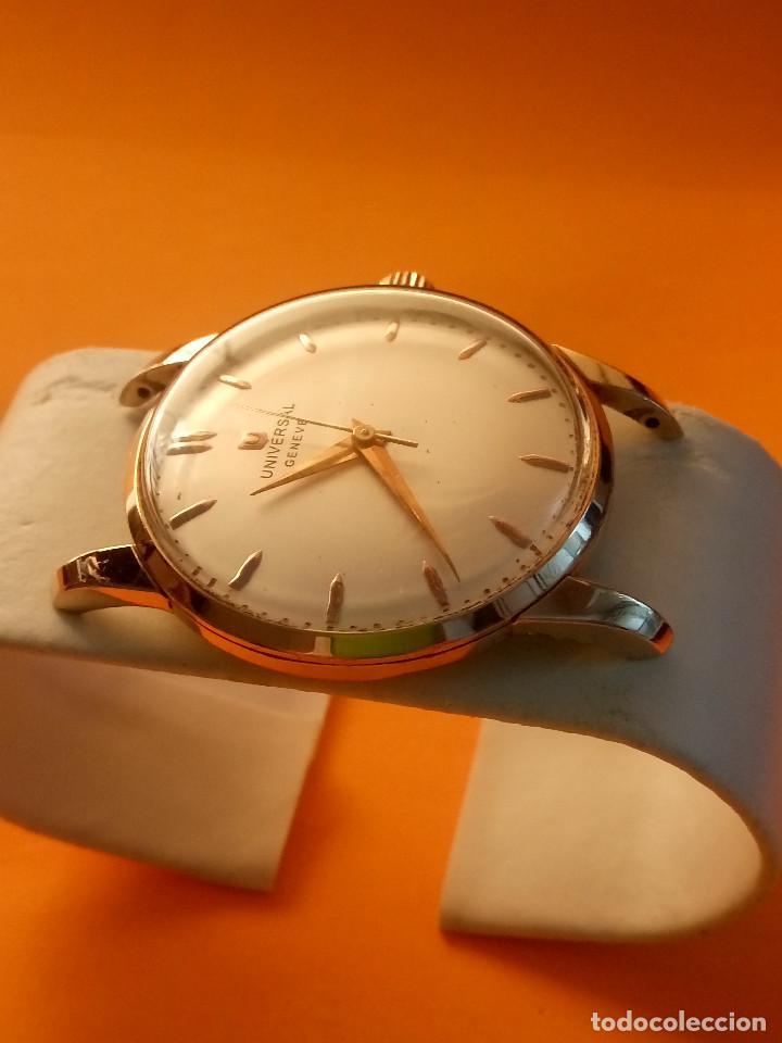 Relojes de pulsera: UNIVERSAL GENEVE - 1.942/49 - (((P.ORO - 30 MICRONES))) CALI. 262 - 34.50 S/C. AUTENTICO. MANUAL. FO - Foto 7 - 133534222