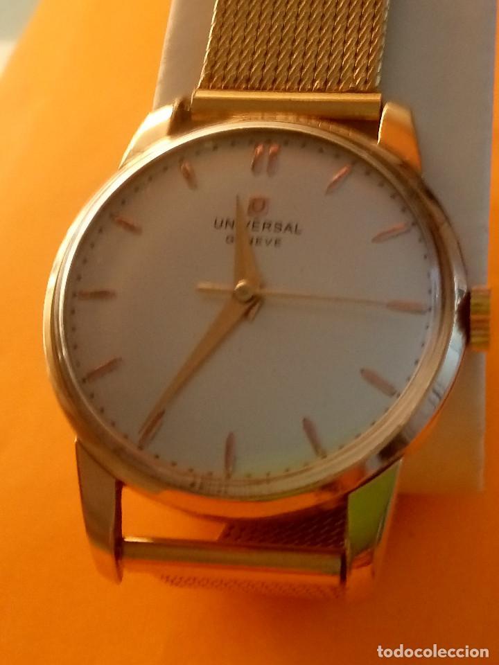 Relojes de pulsera: UNIVERSAL GENEVE - 1.942/49 - (((P.ORO - 30 MICRONES))) CALI. 262 - 34.50 S/C. AUTENTICO. MANUAL. FO - Foto 17 - 133534222