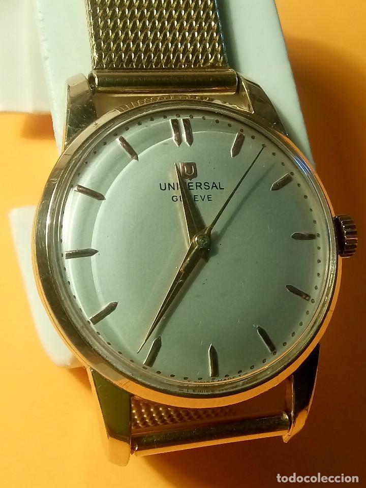 Relojes de pulsera: UNIVERSAL GENEVE - 1.942/49 - (((P.ORO - 30 MICRONES))) CALI. 262 - 34.50 S/C. AUTENTICO. MANUAL. FO - Foto 19 - 133534222