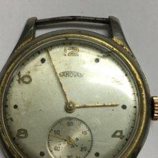 Relojes de pulsera: RELOJ SAMOVAR CARGA MANUAL MAQUINARIA SWISS MADE PARA PIEZAS EJE VOLANTE ROTO. Lote 133575246