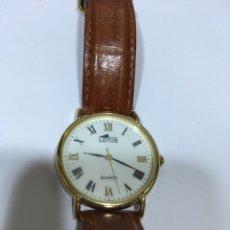 Relojes de pulsera: RELOJ LOTUS CHAPADO ORO QUARZO. Lote 133705894