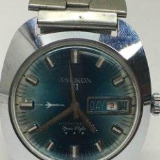 Relojes de pulsera: RELOJ ASEIKON 3 ESTRELLAS MANUAL,FUNCIONA MUY BIEN DIAL A LAS 3 VINTAGE. Lote 133810370