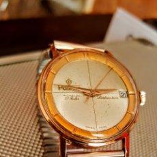 Relojes de pulsera: RELOJ SWSS POTENS INCABLO 21RUVIS CALENDARIO DISTINCION CHAPADO. Lote 133917394