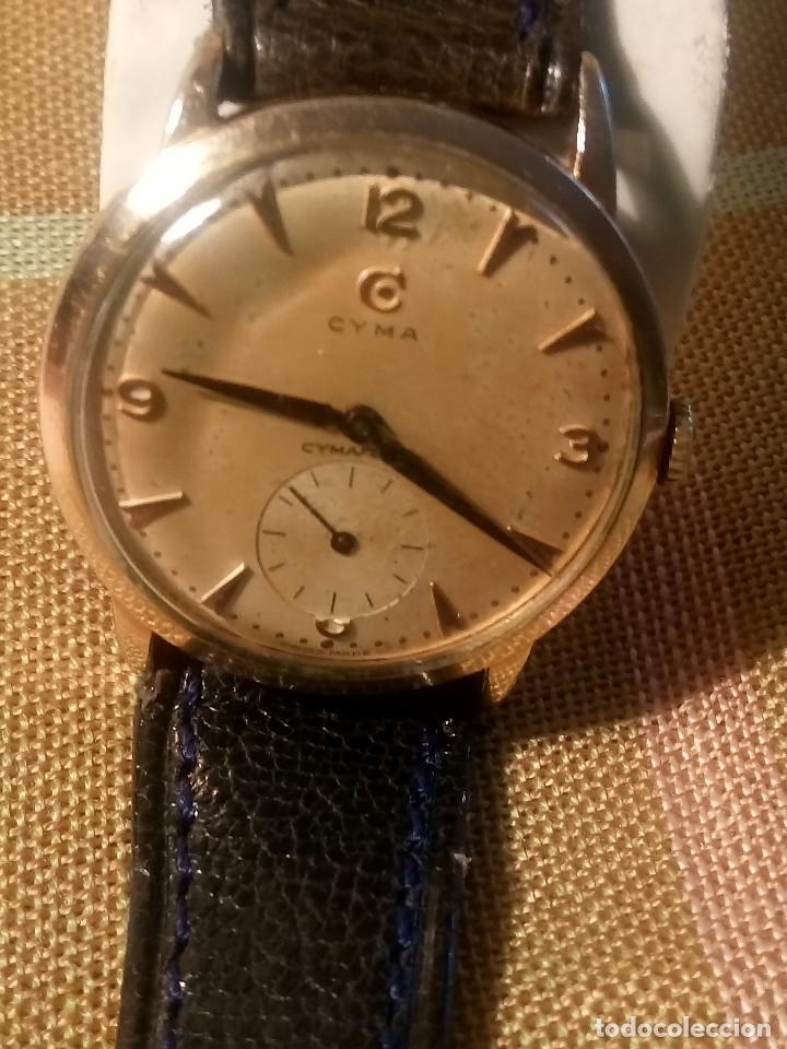 Relojes de pulsera: CYMA - MANUAL. FUNCIONANDO. CALIBRE 458 AÑOS 50. 20 MICRAS. REVISADO TALLER RELOJERO. FOTOS Y DESCRI - Foto 11 - 134025350