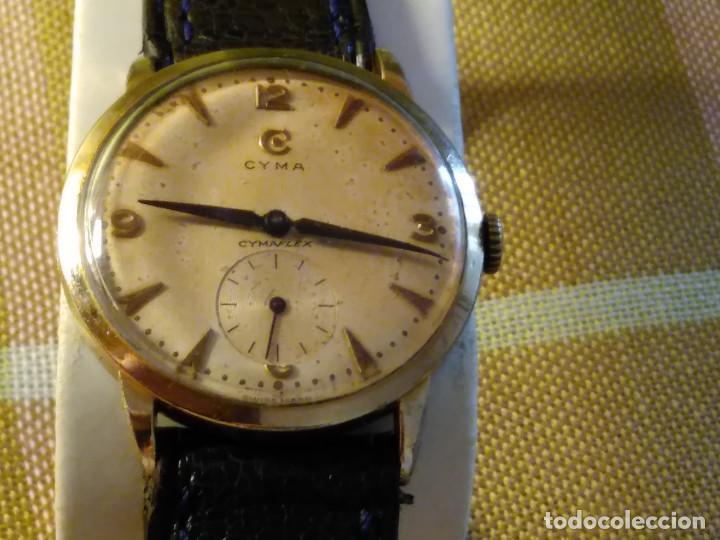 CYMA - MANUAL. FUNCIONANDO. CALIBRE 458 AÑOS 50. 20 MICRAS. REVISADO TALLER RELOJERO. FOTOS Y DESCRI (Relojes - Pulsera Carga Manual)