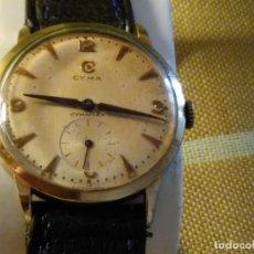 Relojes de pulsera: CYMA - MANUAL. FUNCIONANDO. CALIBRE 458 AÑOS 50. 20 MICRAS. REVISADO TALLER RELOJERO. FOTOS Y DESCRI. Lote 134025350