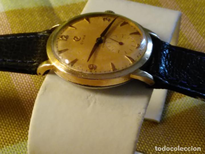 Relojes de pulsera: CYMA - MANUAL. FUNCIONANDO. CALIBRE 458 AÑOS 50. 20 MICRAS. REVISADO TALLER RELOJERO. FOTOS Y DESCRI - Foto 3 - 134025350