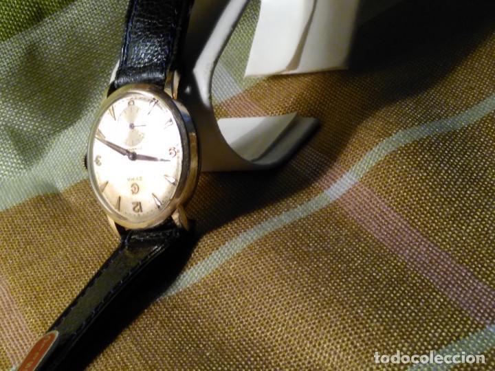 Relojes de pulsera: CYMA - MANUAL. FUNCIONANDO. CALIBRE 458 AÑOS 50. 20 MICRAS. REVISADO TALLER RELOJERO. FOTOS Y DESCRI - Foto 8 - 134025350