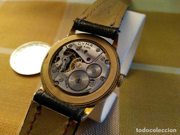 Relojes de pulsera: CYMA - MANUAL. FUNCIONANDO. CALIBRE 458 AÑOS 50. 20 MICRAS. REVISADO TALLER RELOJERO. FOTOS Y DESCRI - Foto 9 - 134025350