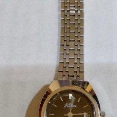 Relojes de pulsera: HALCON 28 M/M.-C/C. MAQUINA A CUERDA SWISS MADE 17 RUBIS, CALENDARIO. BUÉN FUNCIONAMIENTO.. Lote 134315998