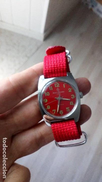 Relojes de pulsera: VINTAGE RELOJ SUIZO HENRI SANDOZ NUEVO DEPORTIVO - Foto 2 - 134576470