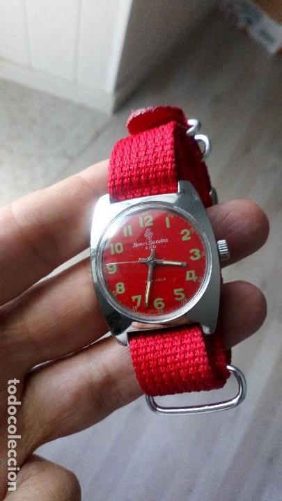 Relojes de pulsera: VINTAGE RELOJ SUIZO HENRI SANDOZ NUEVO DEPORTIVO - Foto 3 - 134576470