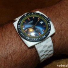 Relojes de pulsera: RARO RELOJ SPRIT SWISS MADE DIVER CARGA MANUAL CAJA NORYL NYLON BLANCO VINTAGE AÑOS 70. Lote 134703874