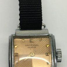 Relojes de pulsera: RELOJ UNIVERSAL GENEVE CARGA MANUAL CAJA DE ACERO MODELO VINTAGE PARA COLECCIONISTAS. Lote 134784205