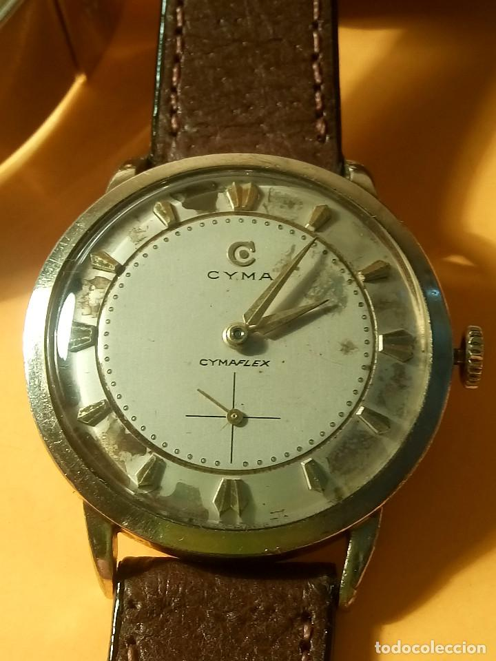 RELOJ CYMA - MANUAL. FUNCIONANDO. CAL, R-458 - 17 R. P. ORO. 20 MICRAS. ESFERA A RAS. 32.8 MM. INFOR (Relojes - Pulsera Carga Manual)