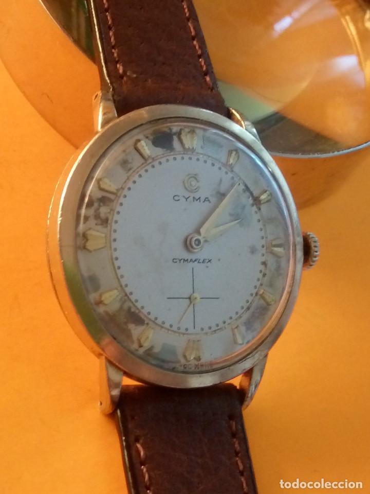 Relojes de pulsera: RELOJ CYMA - MANUAL. FUNCIONANDO. CAL, R-458 - 17 R. P. ORO. 20 MICRAS. ESFERA A RAS. 32.8 MM. INFOR - Foto 3 - 135100422