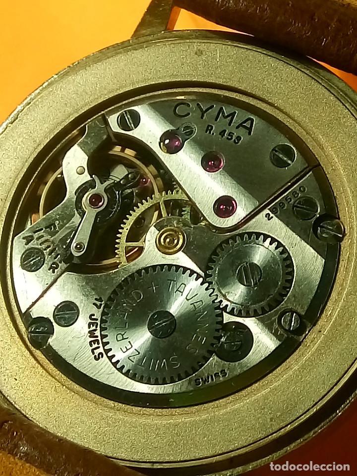 Relojes de pulsera: RELOJ CYMA - MANUAL. FUNCIONANDO. CAL, R-458 - 17 R. P. ORO. 20 MICRAS. ESFERA A RAS. 32.8 MM. INFOR - Foto 7 - 135100422