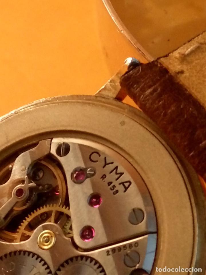 Relojes de pulsera: RELOJ CYMA - MANUAL. FUNCIONANDO. CAL, R-458 - 17 R. P. ORO. 20 MICRAS. ESFERA A RAS. 32.8 MM. INFOR - Foto 8 - 135100422
