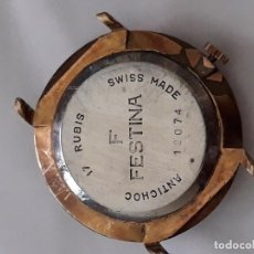 Relojes de pulsera: RELOJ DE PULSERA CABALLERO CAGRA MANUAL FESTINA 17 RUBIS, PARA PIEZAS O REPAR. Lote 135330426