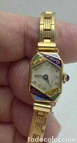 Reloj de oro de 18k, art deco años 40 de mujer Vendido en
