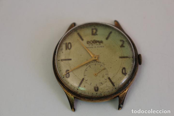 Relojes de pulsera: reloj dogma prima chapado en oro - Foto 4 - 135393634