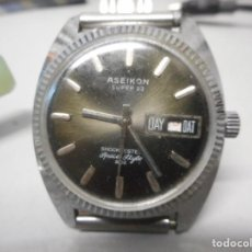 Relojes de pulsera: RELOJ ASEIKON FUNCIONANDO Y EN BUEN ESTADO. Lote 135582270
